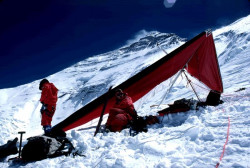 The first hang glider flight off Everest…